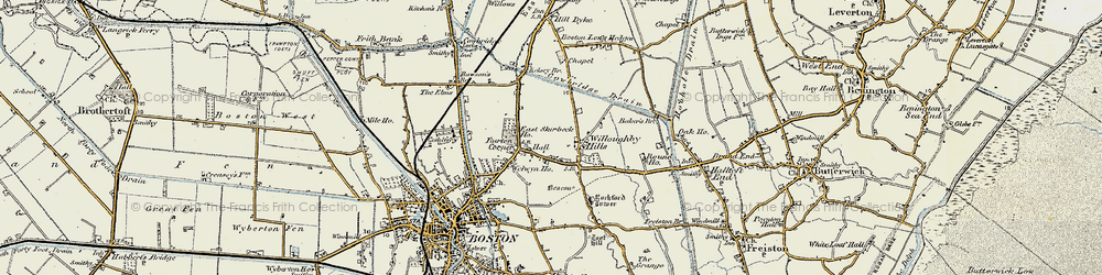 Old map of Willoughby Hills in 1901-1902