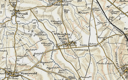 Old map of Willoughby-on-the-Wolds in 1902-1903