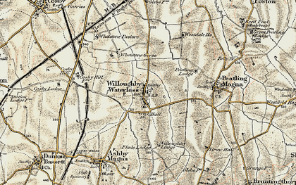 Old map of Whetstone Pastures in 1901-1902