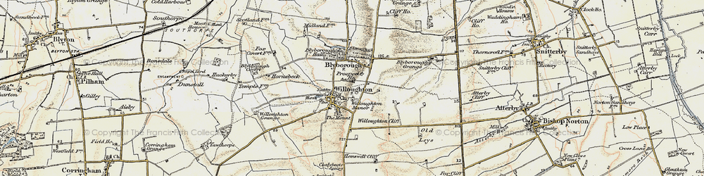 Old map of Willoughton Cliff in 1903