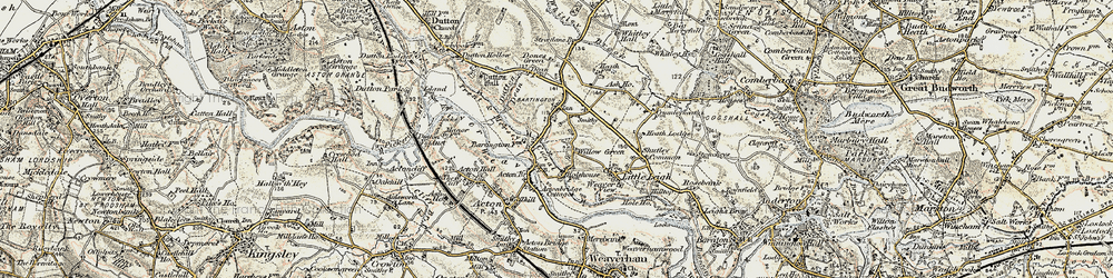 Old map of Willow Green in 1902-1903