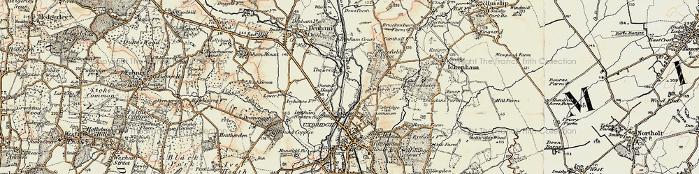 Old map of Willowbank in 1897-1909