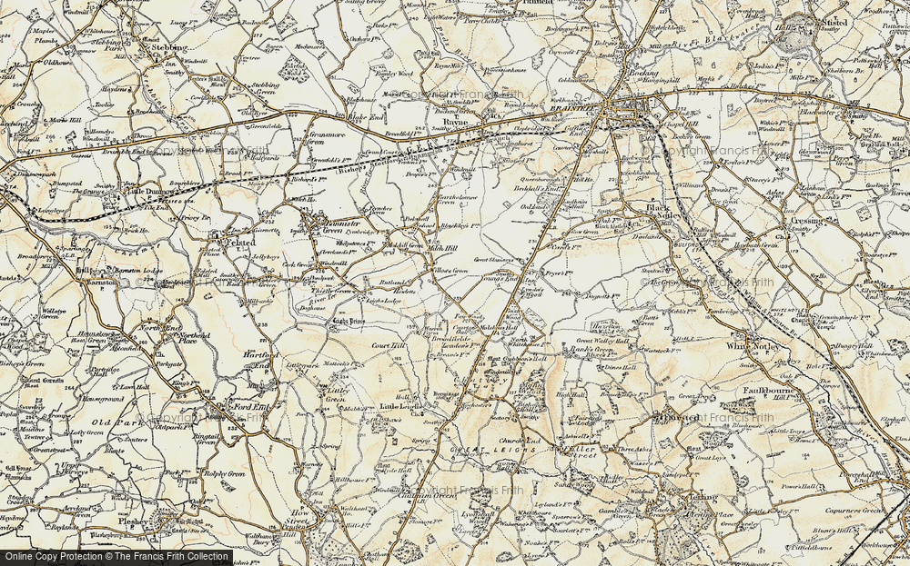 Old Map of Willows Green, 1898-1899 in 1898-1899