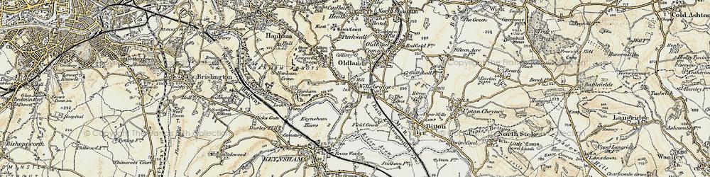 Old map of Willsbridge in 1899