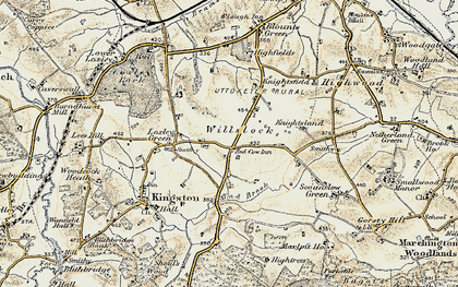 Old map of Willslock in 1902