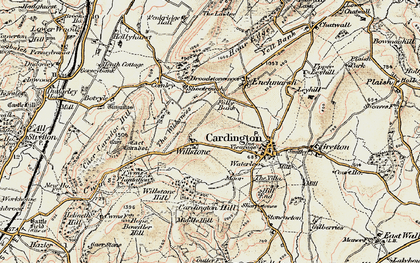 Old map of Willstone in 1902