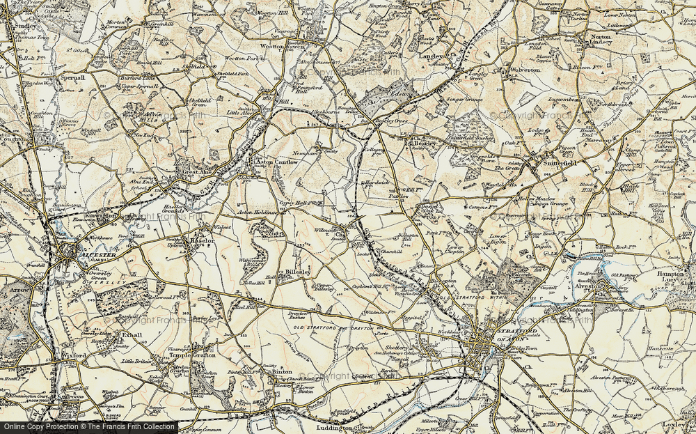Old Map of Wilmcote, 1899-1902 in 1899-1902