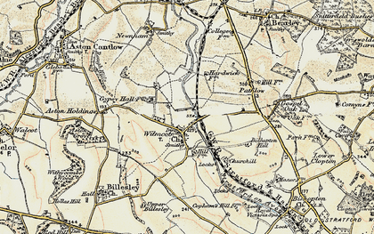 Old map of Wilmcote in 1899-1902