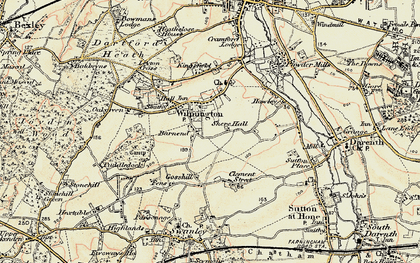 Old map of Wilmington in 1897-1898