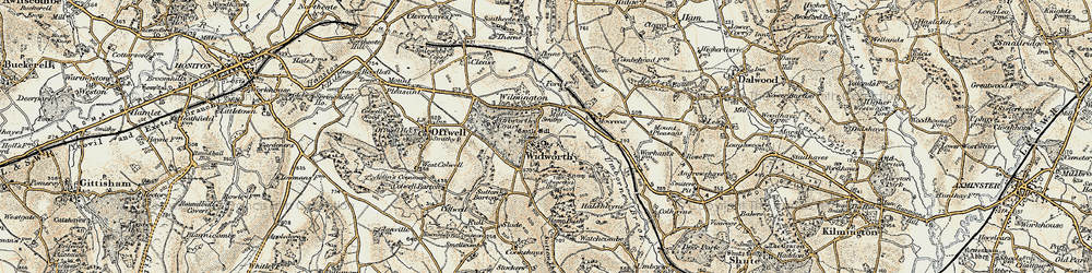 Old map of Wilmington in 1898-1900