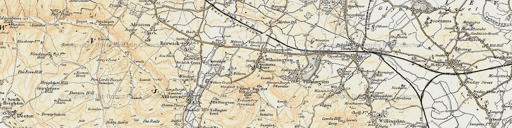 Old map of Windover Hill in 1898