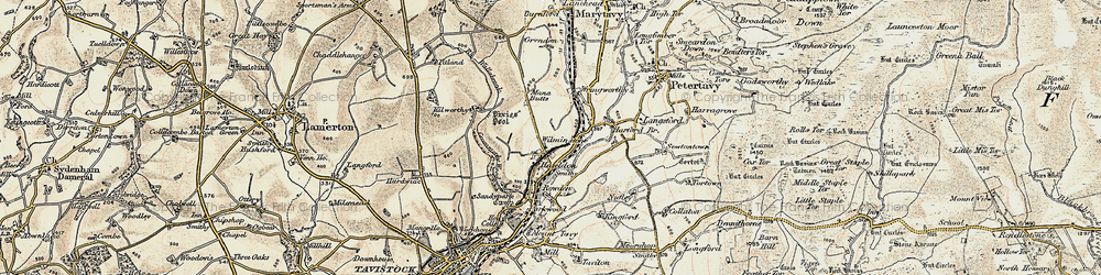 Old map of Wilminstone in 1899-1900