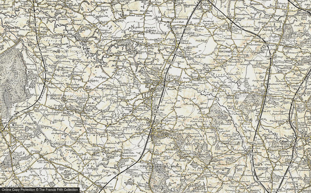 Old Map of Wilmslow, 1902-1903 in 1902-1903