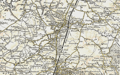 Old map of Wilmslow in 1902-1903