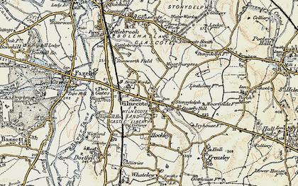 Old map of Wilnecote in 1901-1902