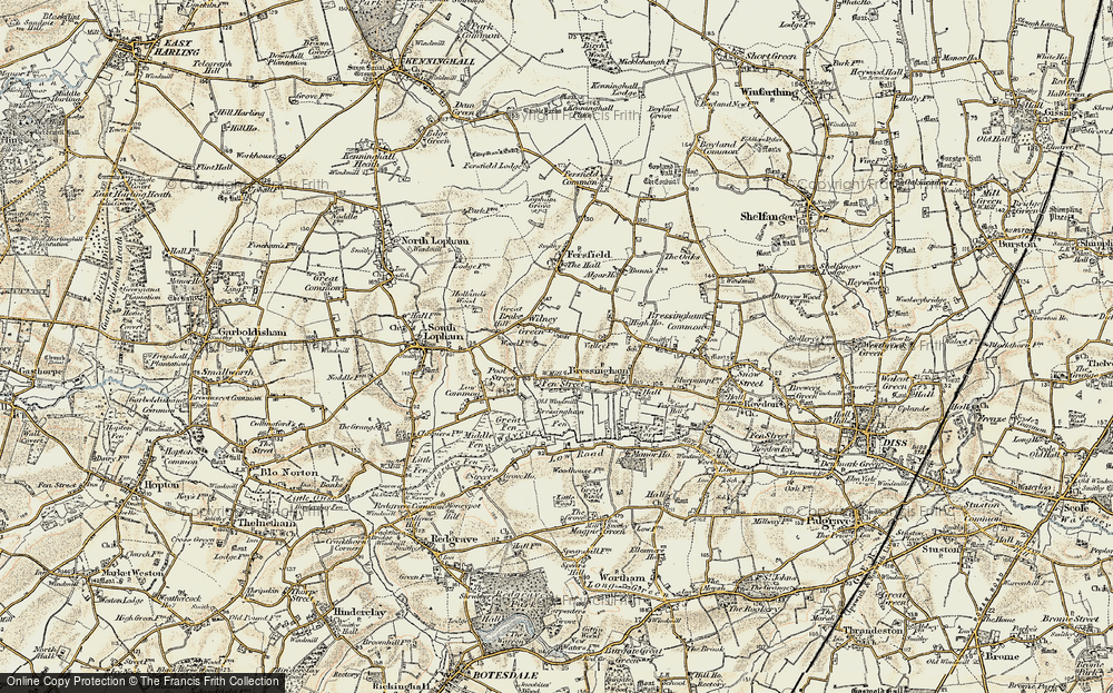 Old Map of Historic Map covering Algar Ho in 1901