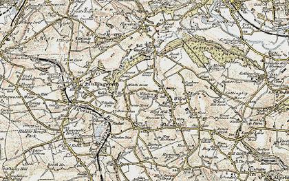 Old map of Wilsden Hill in 1903-1904