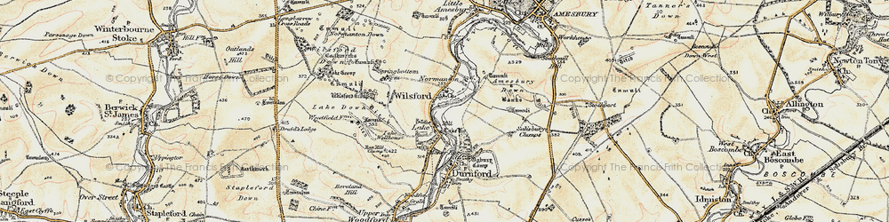 Old map of Wilsford in 1897-1899