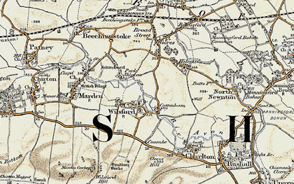 Old map of Wilsford in 1898-1899