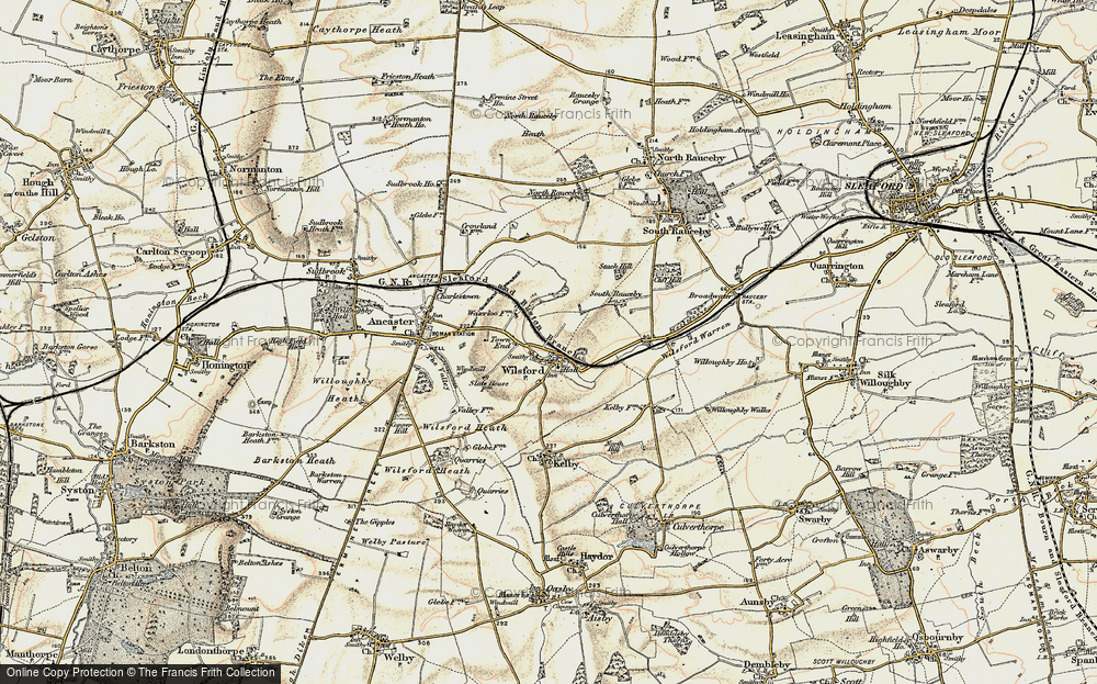 Old Map of Wilsford, 1902-1903 in 1902-1903
