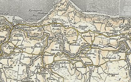 Old map of Wilsham in 1900
