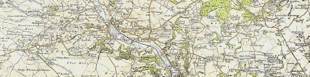 Old map of Wilsill in 1903-1904