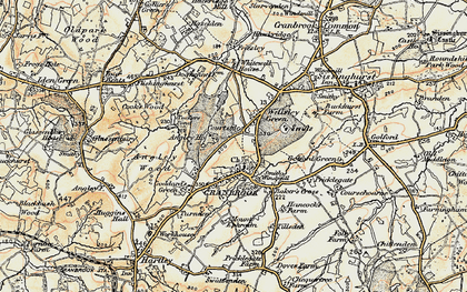 Old map of Wilsley Green in 1897-1898