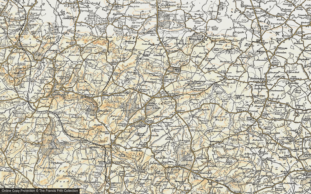 Old Map of Wilsley Pound, 1897-1898 in 1897-1898