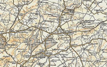 Old map of Wilsley Pound in 1897-1898