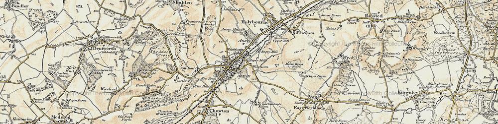 Old map of Wilsom in 1897-1909