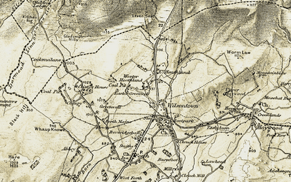 Old map of Wilsontown in 1904-1905