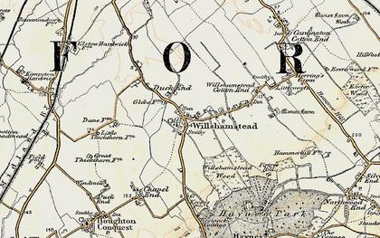 Old map of Wilstead in 1898-1901