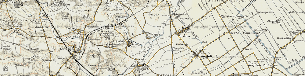 Old map of Wilsthorpe in 1901-1902
