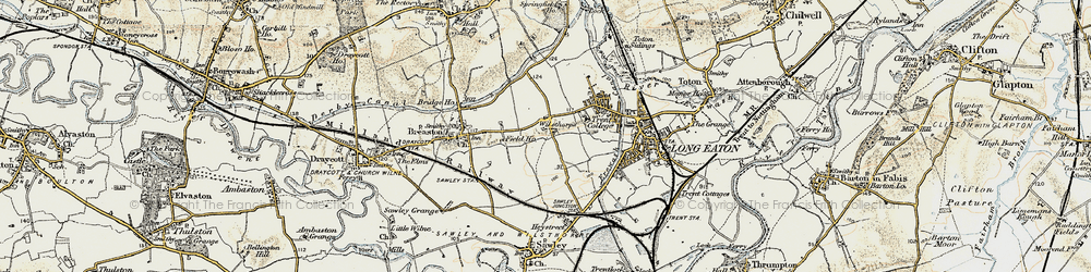 Old map of Wilsthorpe in 1902-1903
