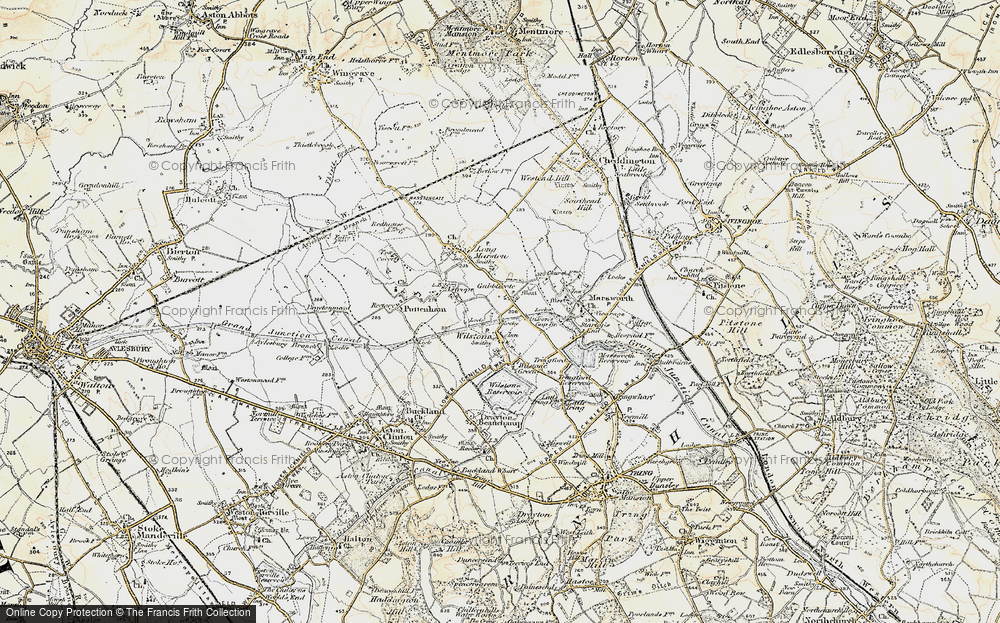 Old Map of Wilstone, 1898 in 1898