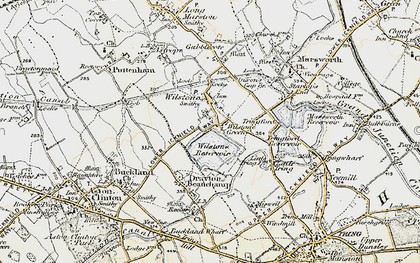 Old map of Wilstone Green in 1898