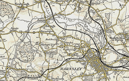 Old map of Wilthorpe in 1903