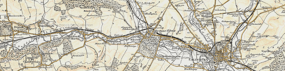 Old map of Wilton in 1897-1898