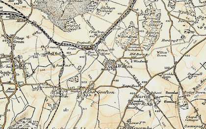 Old map of Wilton in 1897-1899