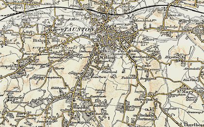 Old map of Wilton in 1898-1900