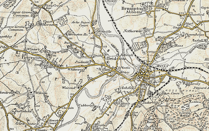 Old map of Wilton in 1899-1900