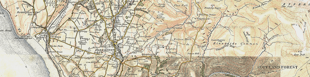 Old map of Wilton in 1903-1904