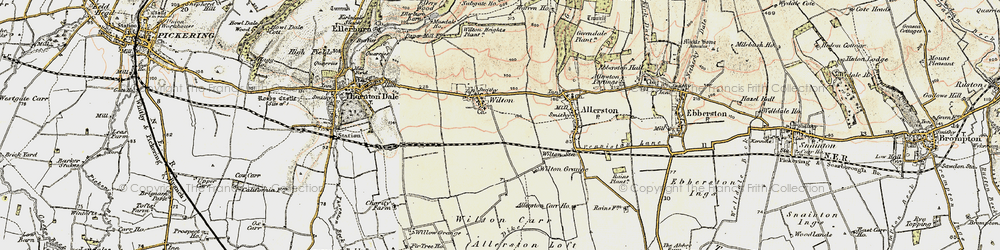 Old map of Wilton Carr in 1903-1904