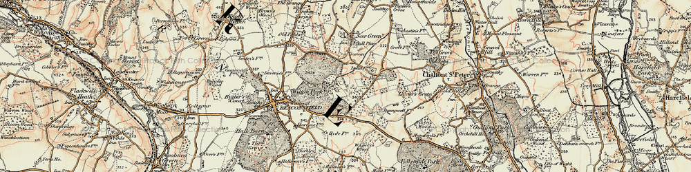 Old map of Wilton Park in 1897-1898