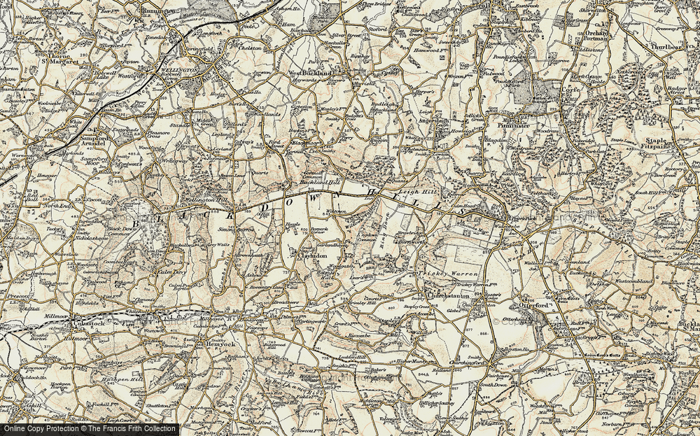 Old Map of Wiltown, 1898-1900 in 1898-1900