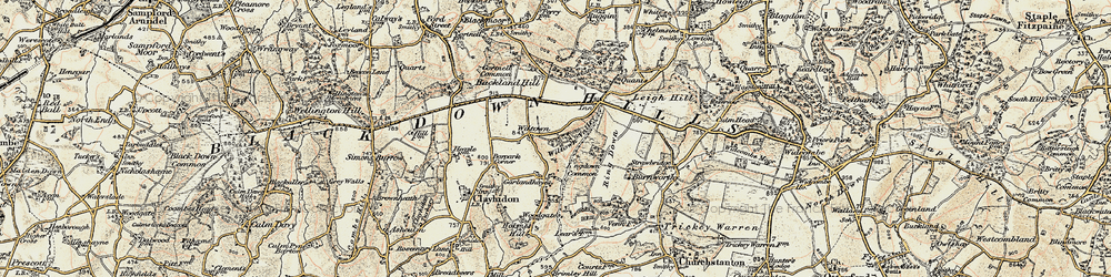 Old map of Wiltown in 1898-1900