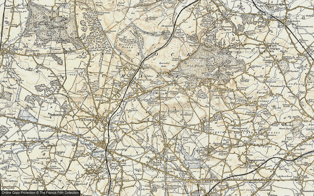 Old Map of Wimblebury, 1902 in 1902