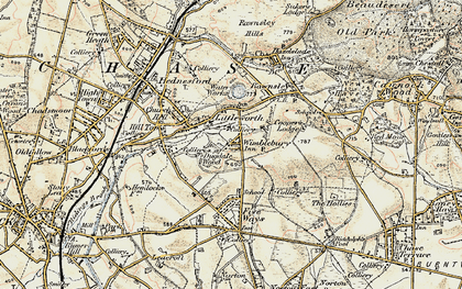 Old map of Wimblebury in 1902