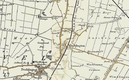 Old map of Wimblington Common in 1901
