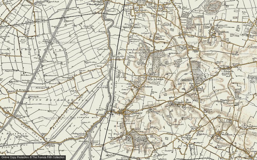 Old Map of Wimbotsham, 1901-1902 in 1901-1902